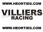 Villiers Racing Tank and Fairing Transfer Decal Sticker DVILL9 BLACK
